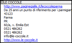 paginegialle excel